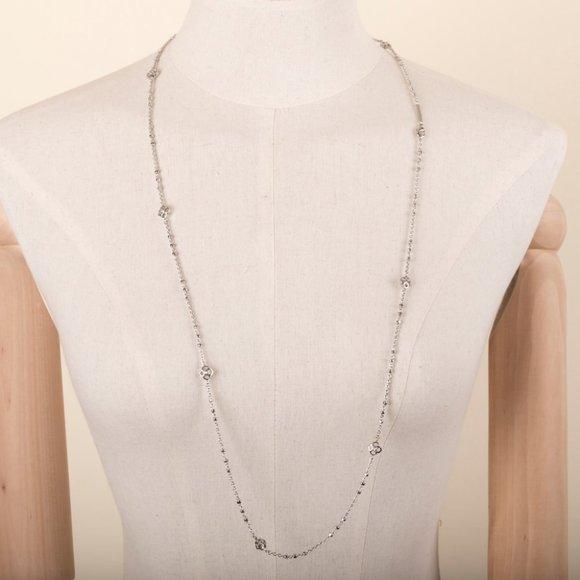 Kendra Scott Jewelry - Kendra Scott Rue Long Strand Necklace In Silver
